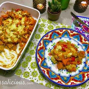 Feest! Zoete aardappelschotel met paprika