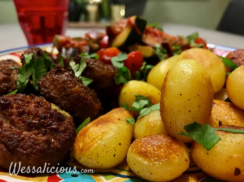 Râs al hânout aardappeltjes met falafel