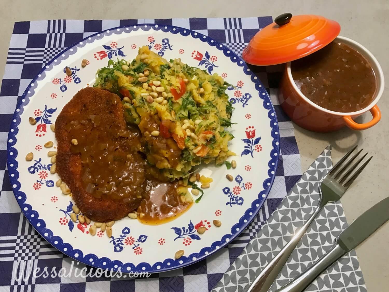 Vegetarische Jus en andijviestamppot