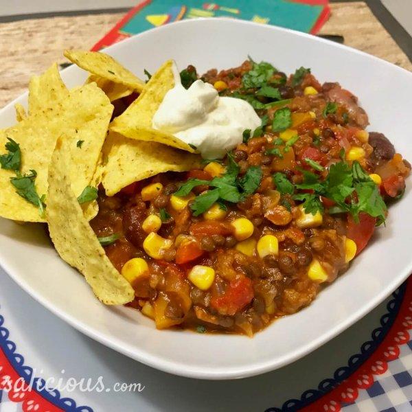 Mexicaanse linzen chili en bonen