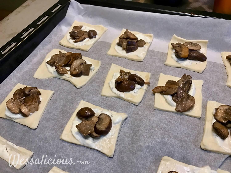 Voorbereiding Kruidige pizzettes met champignons