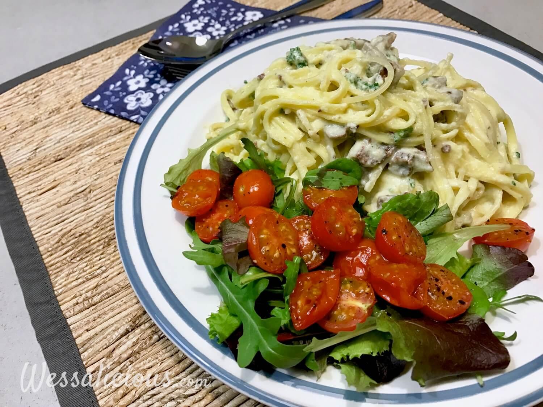 Overheerlijke Vegetarische Pasta carbonara