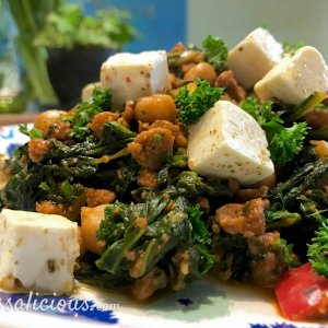 voorbeeld Griekse kikkererwtenstoof met spinazie