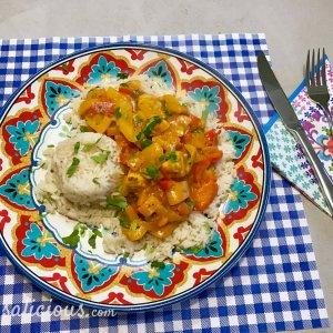 Lekkere Paprika curry met rijst