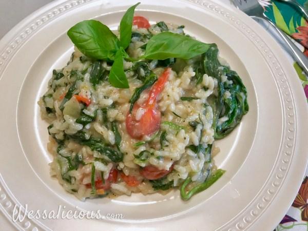Lekkere Basilicum-tomaat Risotto