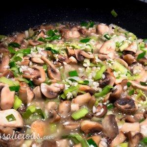 champignon risotto - 2