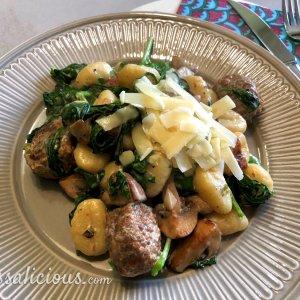 Gnocchi met spinazie in een kruidenroomkaassaus