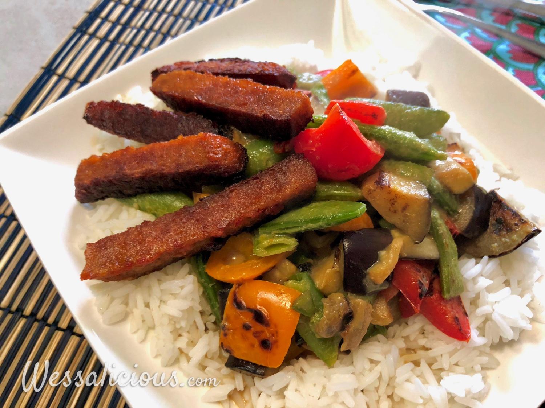 Thaise groene curry met aubergine
