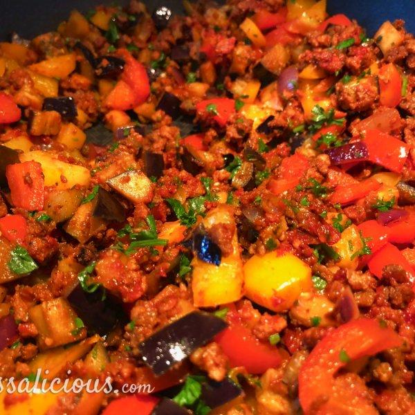 voorbereiding Griekse rijstschotel met feta