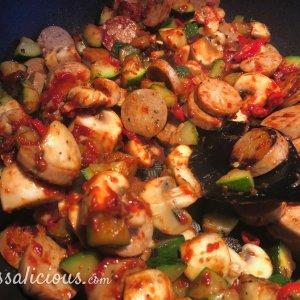 voorbereiding Gnocchi met spinazie en rode wijn