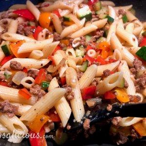 Voorbereiding Pasta met zelfgemaakte pompoensaus