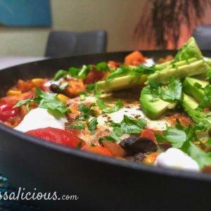 Mexicaanse zoete aardappel stoofschotel