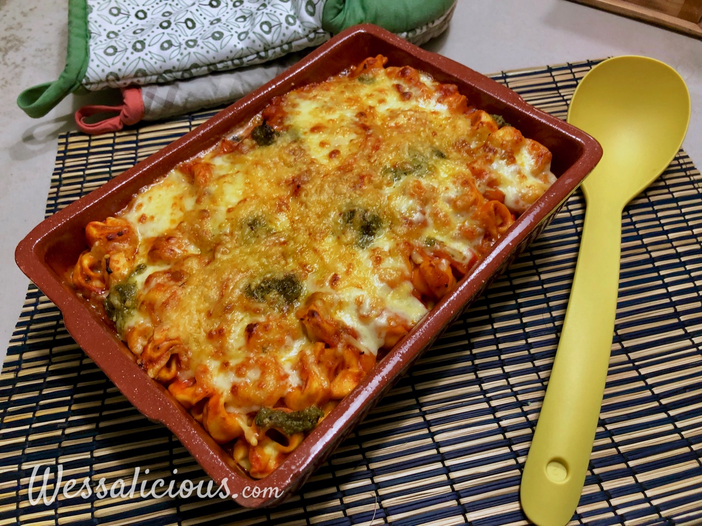 Vegetarische Tortellini ovenschotel