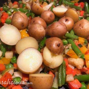 Voorbereiding Winterse groenteschotel met kriel