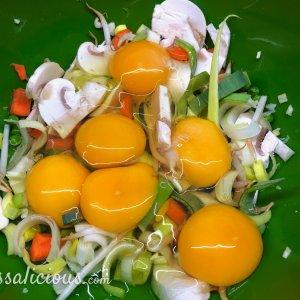 voorbereiding Vegetarische Foe Yong Hai