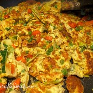 bakken van de Vegetarische Foe Yong Hai