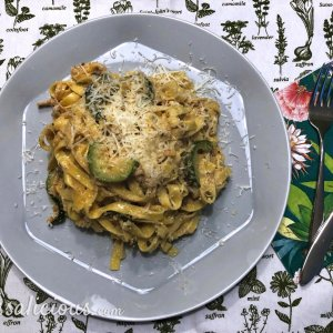 Pasta met walnoot-pesto