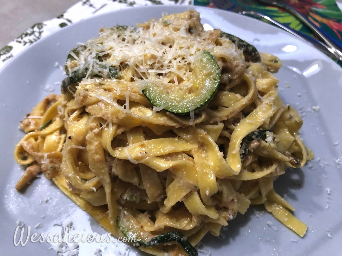 Pasta met walnoot-pesto