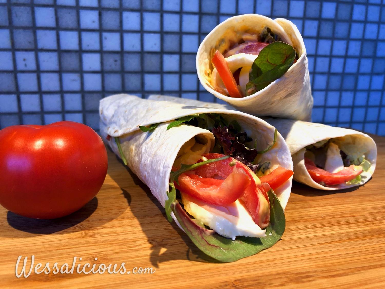 Tomaat-mozzarella wraps