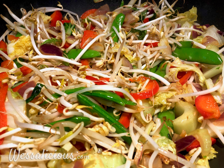 voorbereiding Vegetarische Pad Thai