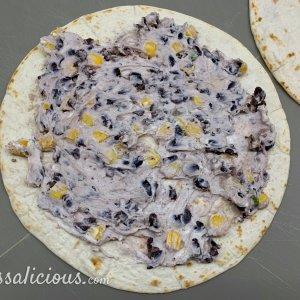 Voorbereiding Geitenkaas Quesadilla's met zwarte bonen