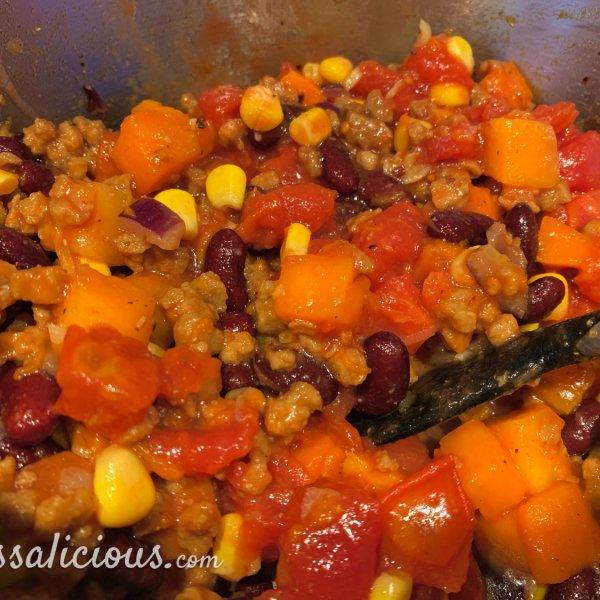 Voorbereiding Mexicaanse pompoenchili