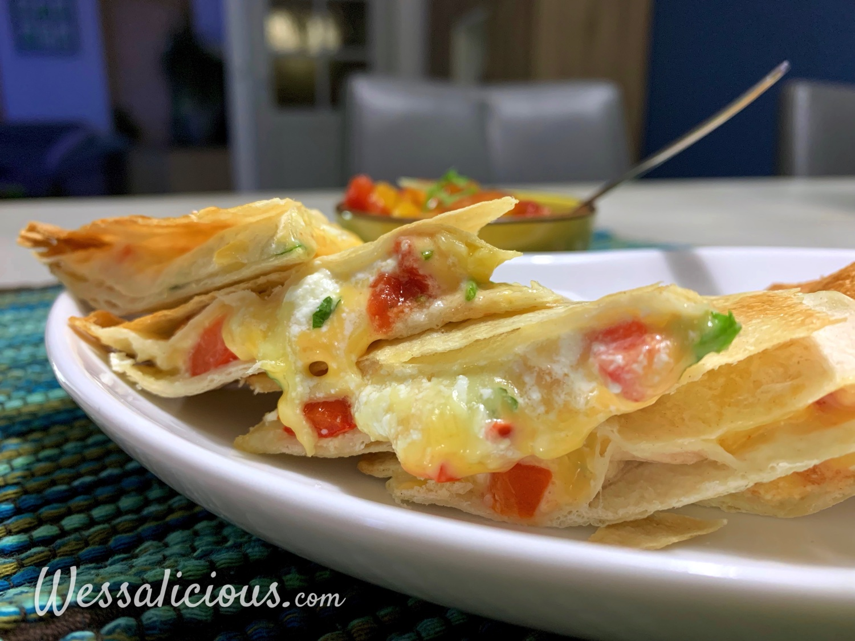 Airfryer Quesadilla's met zelfgemaakte salsa
