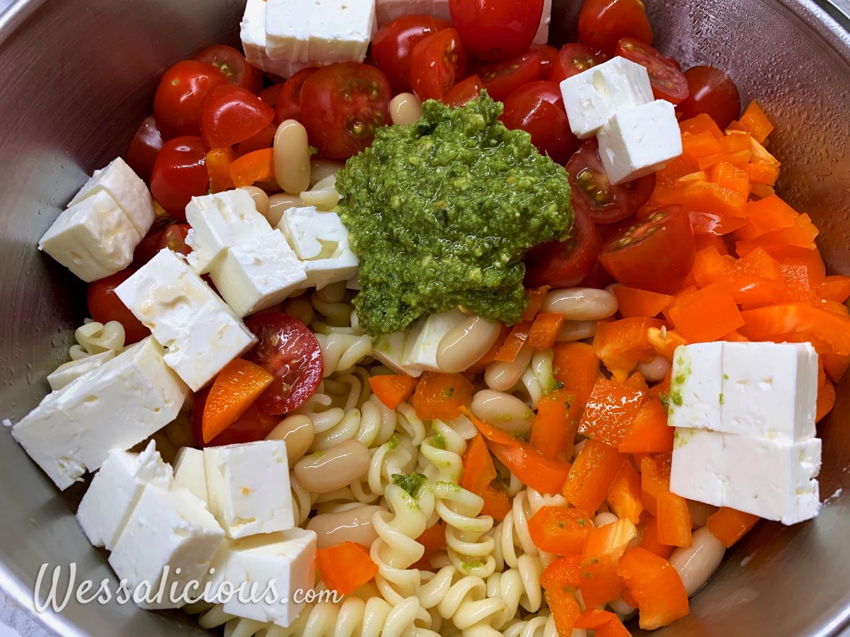 Voorbereiding Koude pastasalade met cannellini bonen