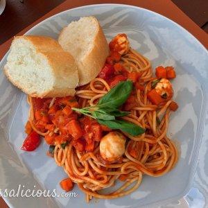 Spaghetti Pomodoro met mozzarella