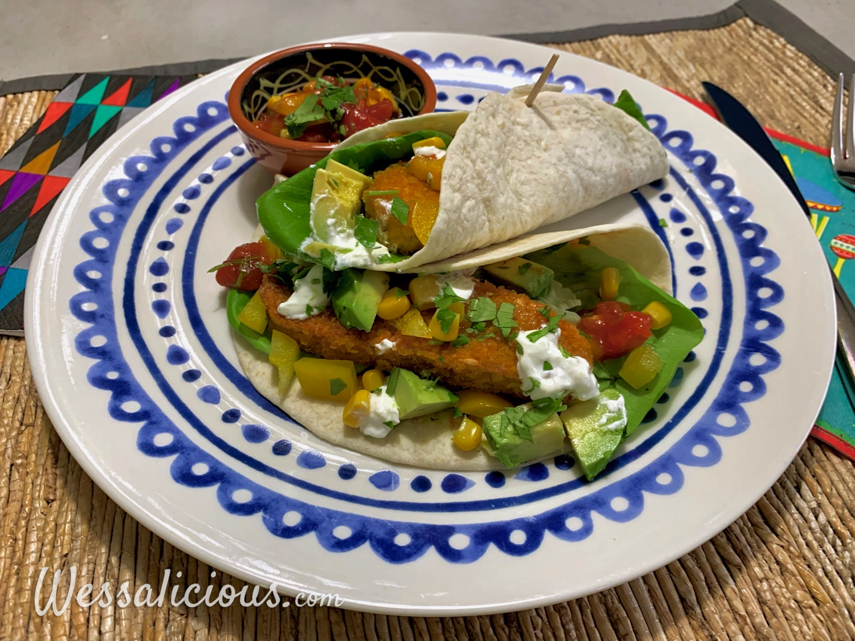 Zomerse vegetarische zachte taco's
