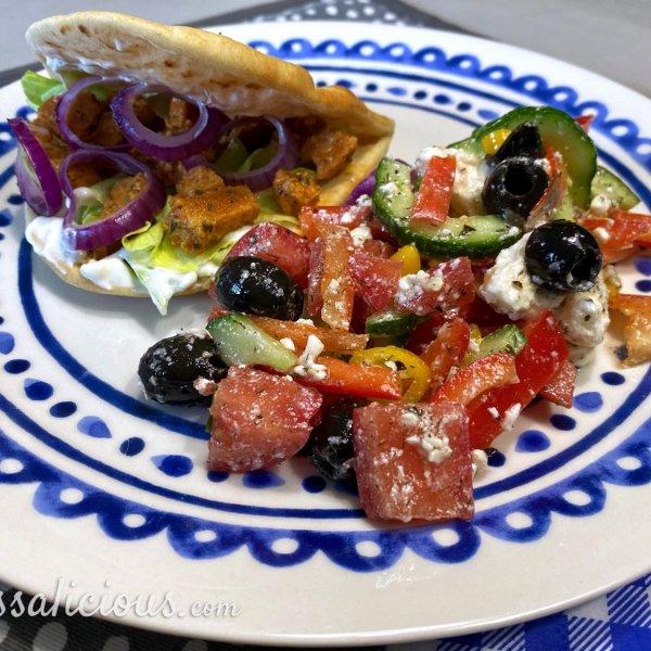 Griekse Flatbreads met salade