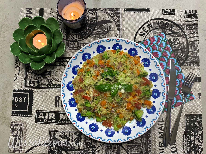 Italian Orzo met broccoli