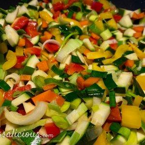 Vegetarische lasagne groenten