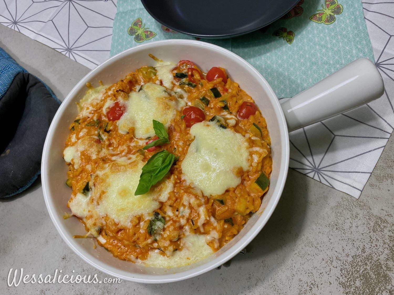 Caprese rijstschotel met mascarpone