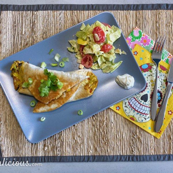 Krokante avocado wraps