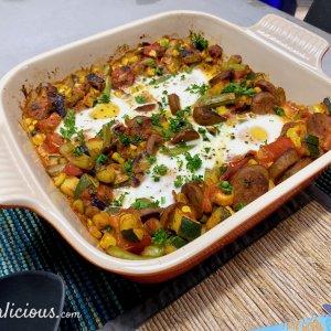 Vegetarische Spaanse flamenco eieren (Huevos a la Flamenca)