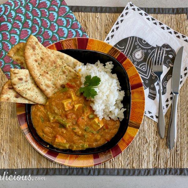 Vegetarische Tika Masala met tofu