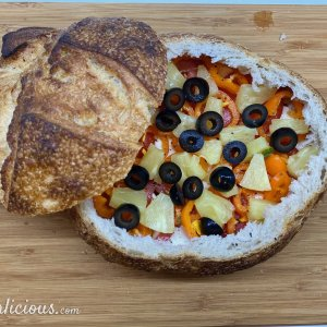 Gevuld brood op Italiaanse wijze
