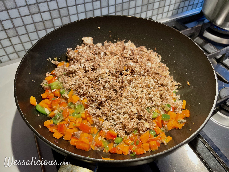 voorbereiding Pasta met champignonbolognese-saus