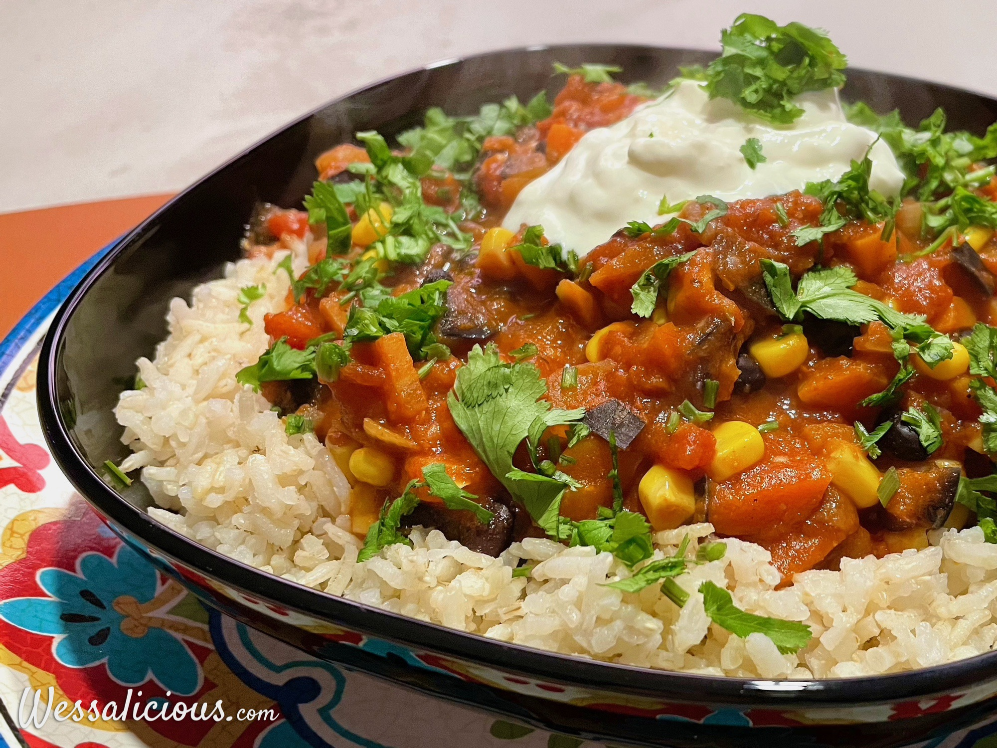 Mexicaanse groentestoof met rijst