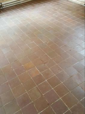 Quarry Tiles Before Cleaning in Appleton