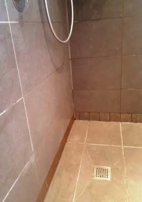 Shower cubicle before cleaning in sale Cheshire