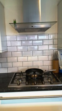 Grout after recolouring at Stockton Heath kitchen