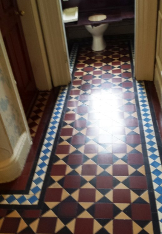 Victorian Tiled Floor After Cleaning Warrington