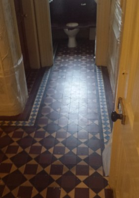 Victorian Tiled Floor Before Cleaning Warrington