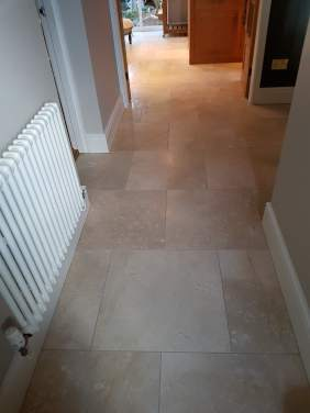 Marble Tiled Floor Before Cleaned and Polished Willington Cheshire