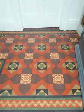 Victorian Tiled Porch Floor After Cleaning Cressington