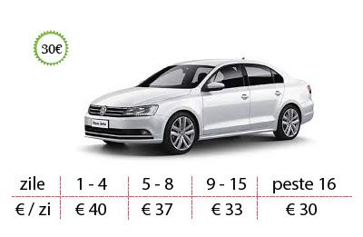 Inchirieri auto Vw Jetta de la 30 €/zi