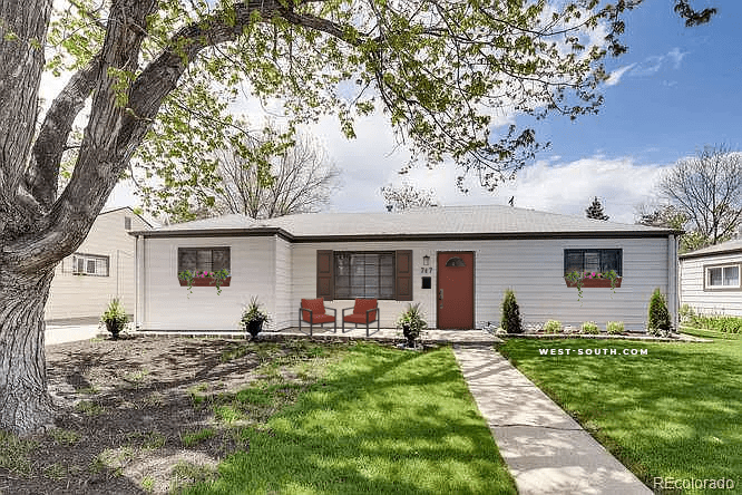 Exterior of Colorado Home with minor Curb Appeal Enhancements