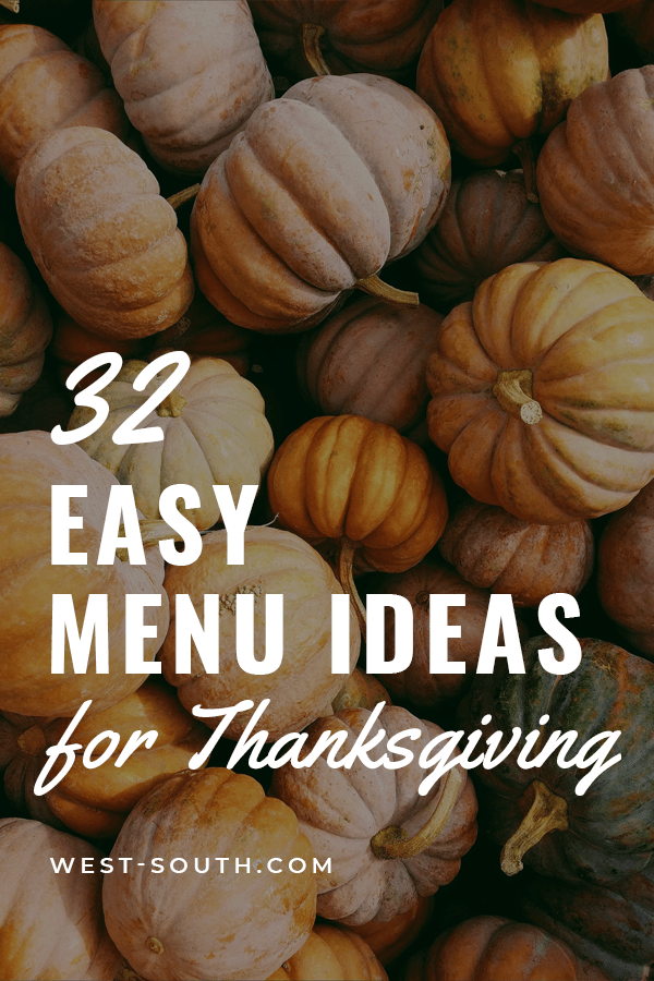PIn Image for 32 Easy Menu Ideas for Thanksgiving